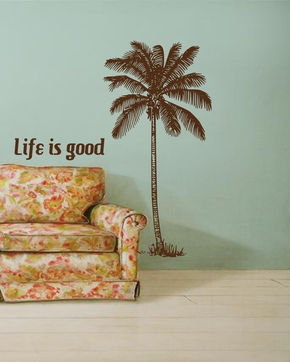 Life is good under a coconut palmtree