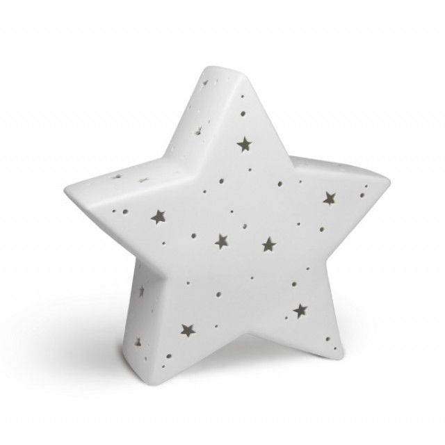 Star Lamp Design, Light-Glow Electric Bedside Lamp from Welink. Perfect for nursery or childrens bedroom as a night light.