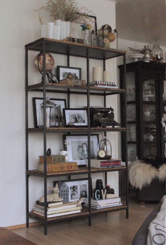 Turning the Vittsjö shelving rustic and industrial