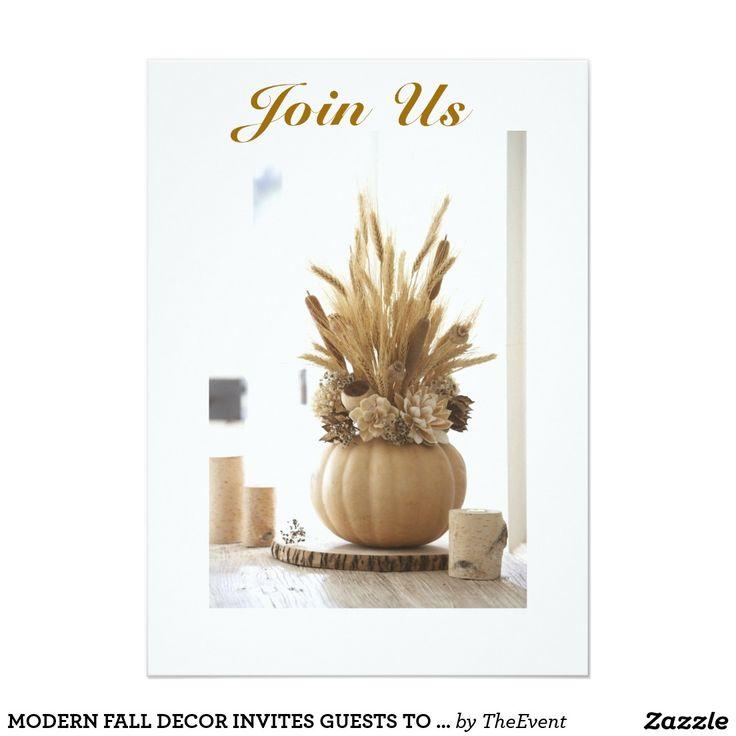 MODERN FALL DECOR INVITES GUESTS TO EVENT | Zazzle.com
