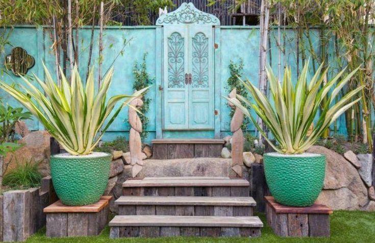 aménager son jardin style bohème chic avec meubles récup'