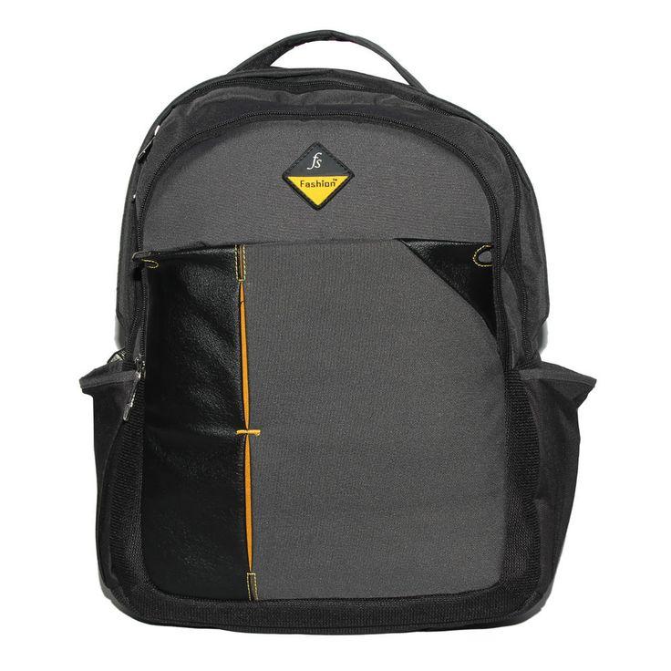 Comfort FS 14 inch Black & Dark Gray Laptop Backpack Bags For Mens & Women EL347