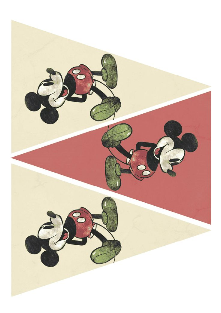 Free Printable Mickey Mouse party supplies vintage.pdf - Google Drive   {Disneyland opened on July 17, 1955.}
