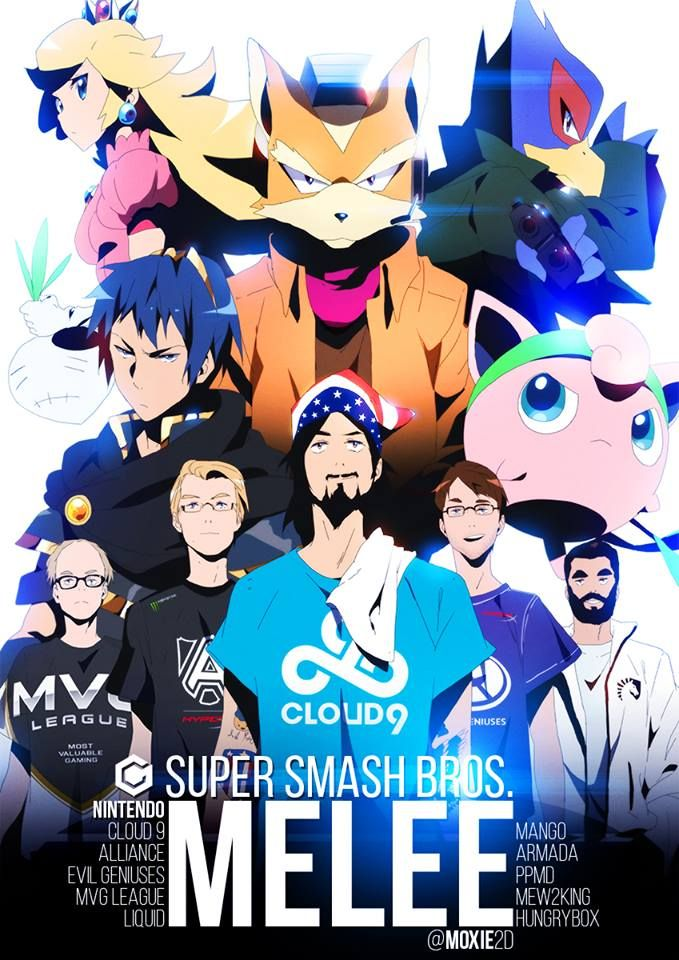 Super Smash Brothers Melee Gods.