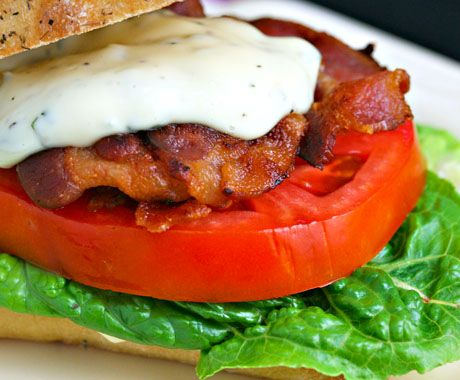 The world's best bacon, lettuce and tomato sandwich