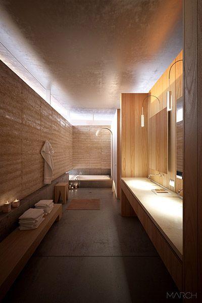 Einrichtung längliches bad