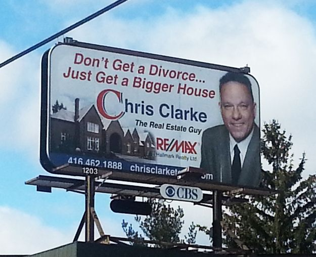 This ad providing a logical solution to all of your marital issues. | 24 Real Estate Ads That Totally Nailed It