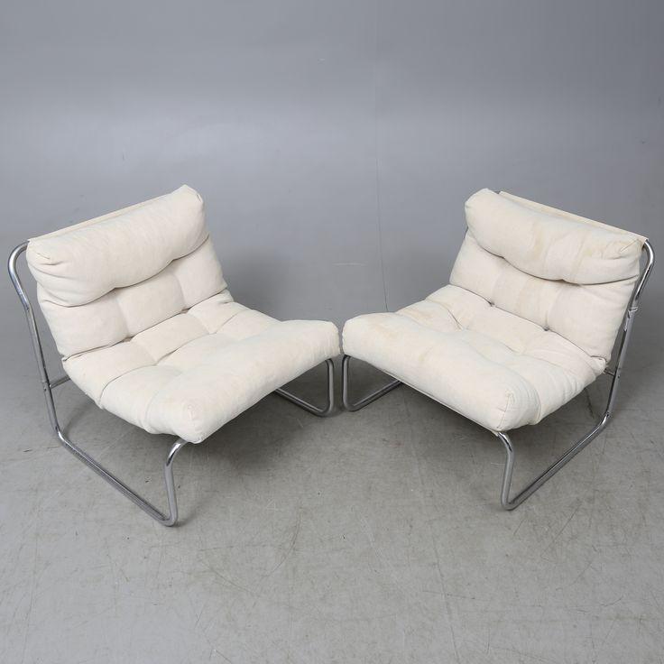 "FÅTÖLJER,  ett par, GILLIS LUNDGREN, ""PIXI"", IKEA, 1970-TAL."