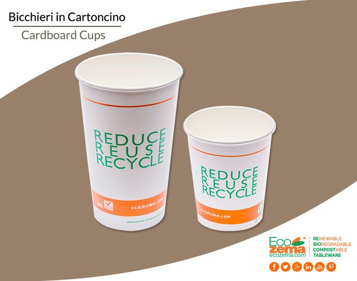 Biodegradable & Compostable FSC cardboard cups - Bicchieri in cartoncino FSC per bevande calde biodegradabili e compostabili
