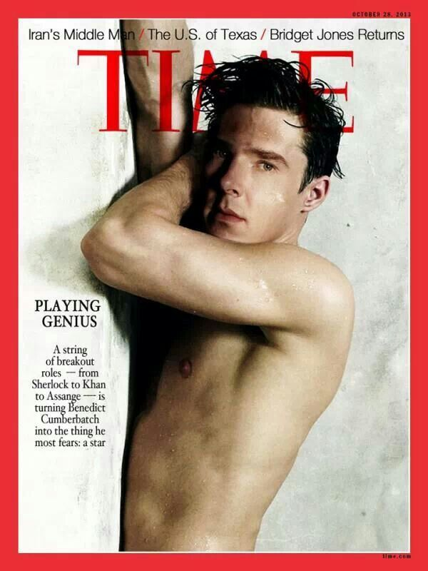 """Can't you just hear the conversation at TIME...""""Mr. Cumberbatch we know you're a serious actor and TIME is a serious magazine but we're going to need you wet and naked."""" And I'm okay with that. I'm so done. Just . . . no, done."""