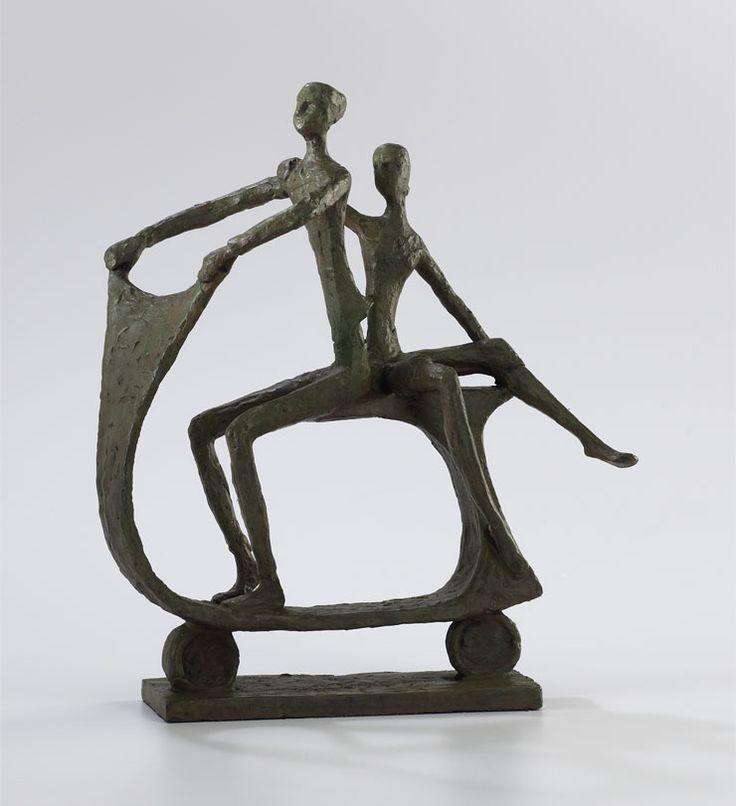 an alberto giacometti esque sculpture the scooter 215