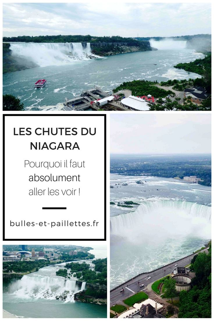 """Les Chutes du Niagara sont mythiques et les voir """"pour de vrai""""  est vraiment une expérience de folie. Je vous explique pourquoi j'ai tant aimé dans mon article :-)"""