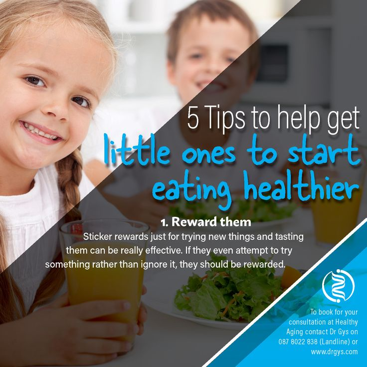 5 tips to help get little ones to start eating healthier 1. Reward Them Sticker rewards just for trying new things and tasting them can be really effective. If they even attempt to try something rather than ignore it, they should be rewarded. For more information or bookings contact hello@drgys.com #HealthTip #Children #HealthyEating