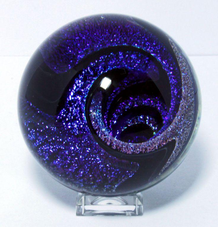 Art Glass Marbles   Handmade Contemporary Art Glass Marble 38 by jwinterbowerglassart