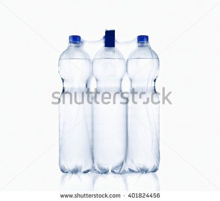 water bottle, isolated on white background, plastic, bottle with drinking water