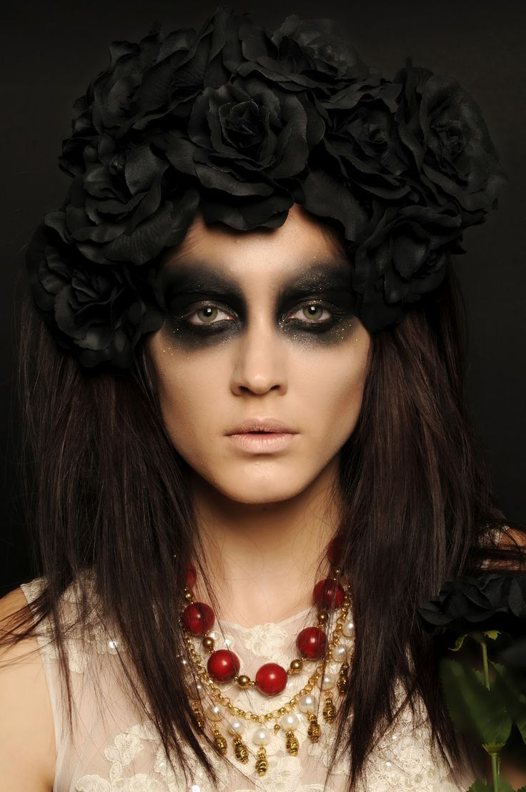 Day of the dead makeup #halloween #goth
