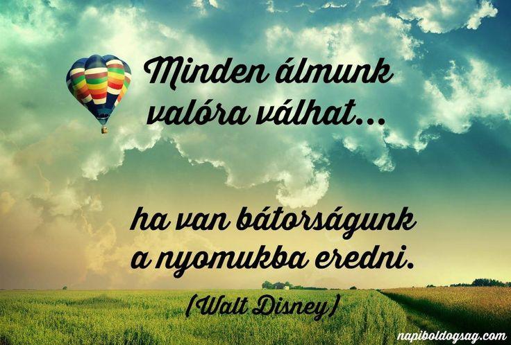 Walt Disney idézet az álmokról. A kép forrása: Napi Boldogság