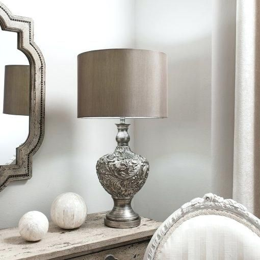 Beautiful Silver Table Lamps Living Room Design Silver Table