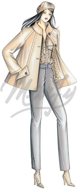 Sewing pattern Coats / Overcoats / Jackets 2548