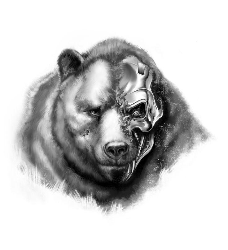 медведь тату картинки рисунки простой исполнении