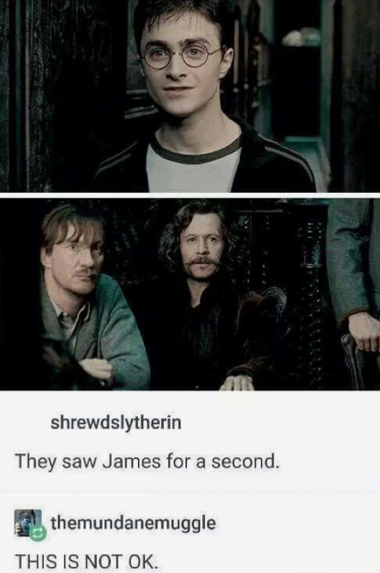 You can tell, for a split second, they saw James