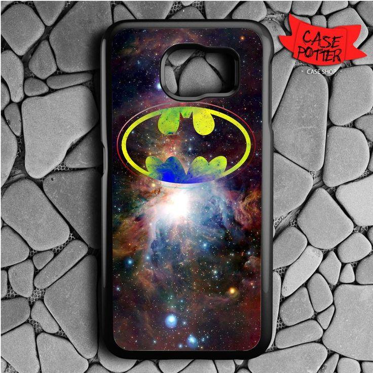 Batman Logo Galaxy Samsung Galaxy S7 Black Case
