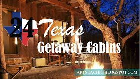 24 Texas Getaway Cabins...great to know for future vacations!