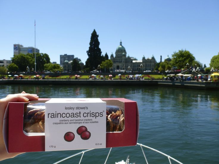Happy Canada Day! As Raincoast Crisps are native to BC, we had some fun in Victoria outside our province's  Parliament buildings with our Canadian flag-coloured crisps!