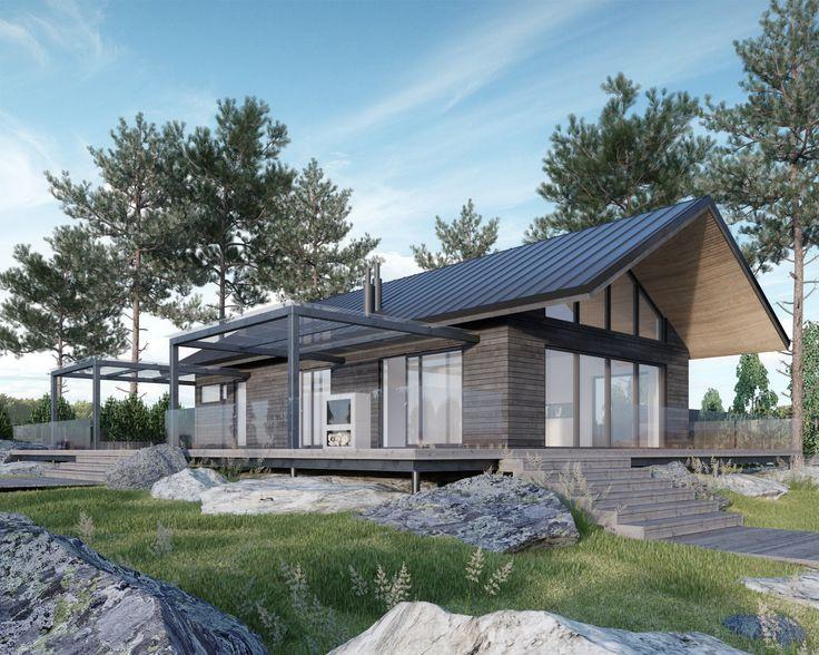 JOARC I ARCHITECTS • Holiday Villas • moderni mökki, summerhouse, Finland