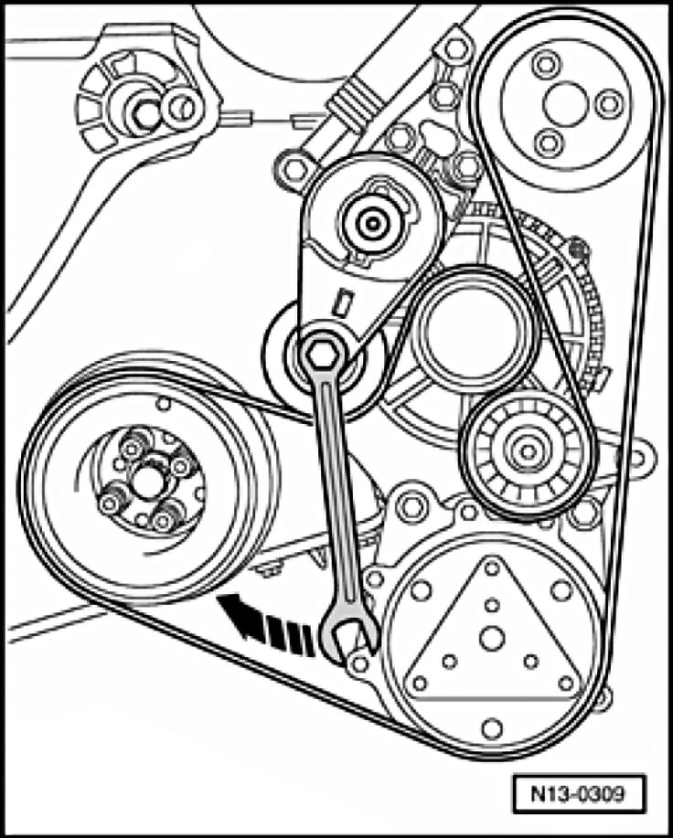 How To Replace Alh Serpentine Belt Tensioner And Idler Pulley