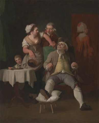The Profligate Punished by Neglect (1774) by Edward Penny (via A Most Beguiling Accomplishement).