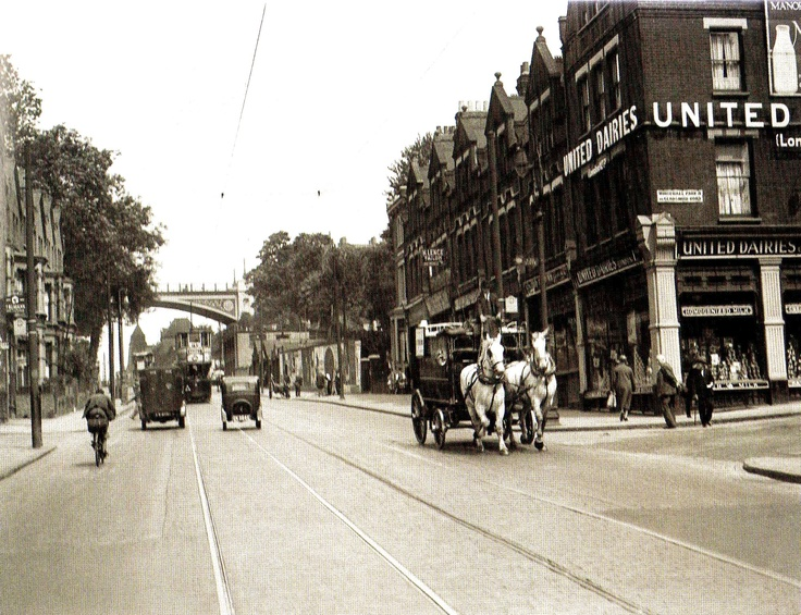 A street scene on Archway Road in North London - 16 September 1933