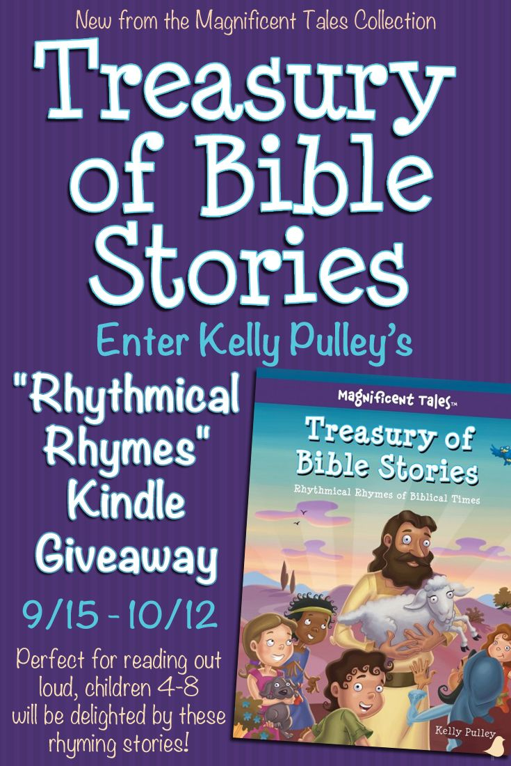 "New from David C Cook's Magnificent Tales series, ""Treasury of Bible Stories"" by Kelly Pulley is sure to tickle the ears of 4–8-year-olds with its ""rhythmic rhyming"" stories. Click to find out more and enter for a chance to win a Kindle."