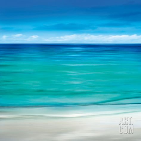 Paradise II Art Print by Jennifer Bailey at Art.com   Ocean Art   Beach Decor