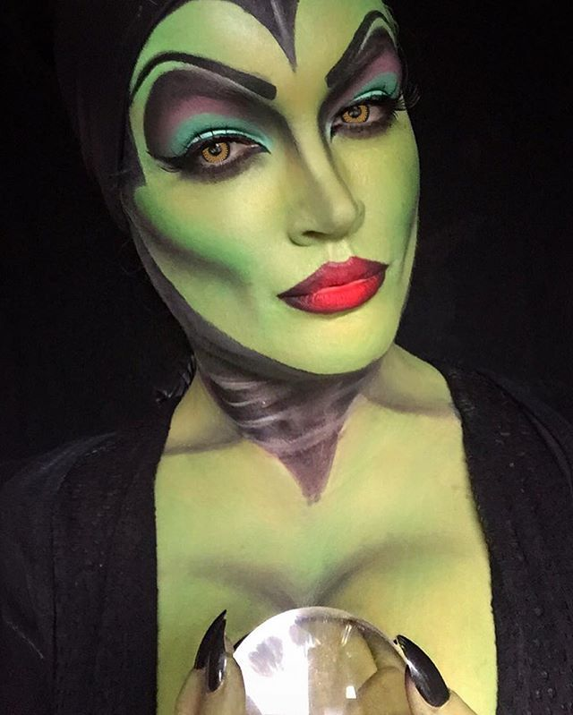 Image Collection #5: Fantasy Witches, Monsters and Demons  Maleficent. This makeup is done often but in this example its very convincing as a character.