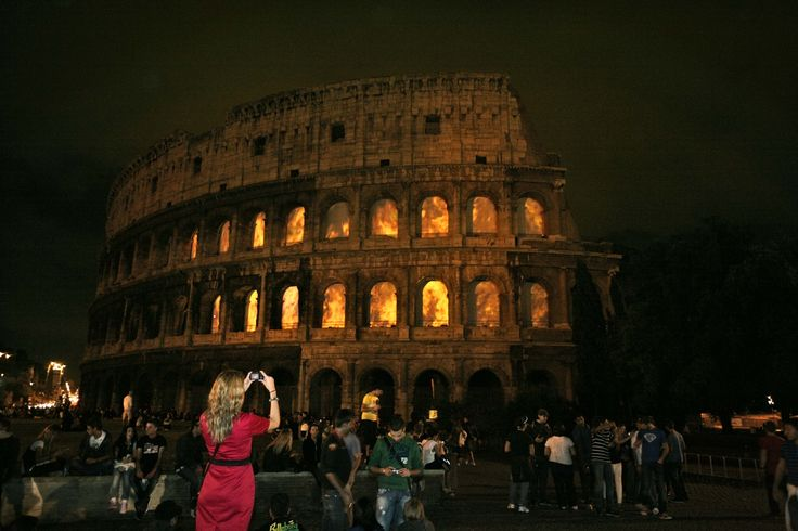 Coliseum in Rome on Fire