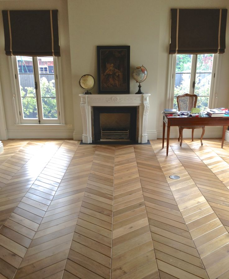French Oak Chevron Timber Floors by Windsor Parquet