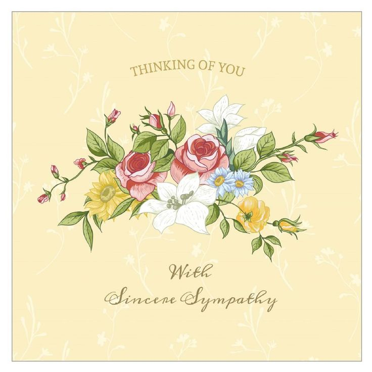 8 Free, Printable Condolence And Sympathy Cards Throughout ...