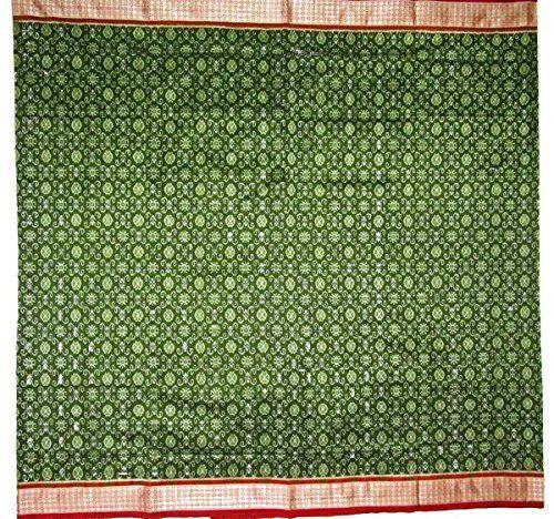 Unique Sambalpuri Silk Saree - Green , with Blouse Piece