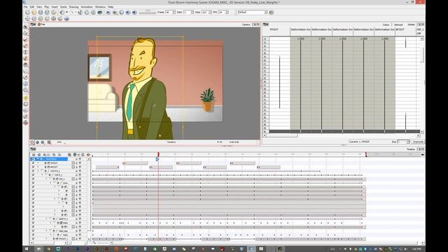 A brief tutorial on adjusting and animating pencil line thickness in Toonboom Harmony. Using a control layer we can globally change the thickness of your line for each drawn element in your scene.