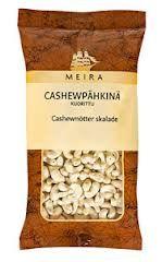 cashewpähkinät (maustamattomat, ei-suolattu)