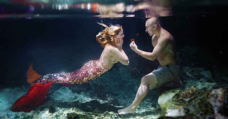 What a guy!!  This Guy Proposed To His Mermaid-Obsessed Girlfriend Underwater | HuffPost