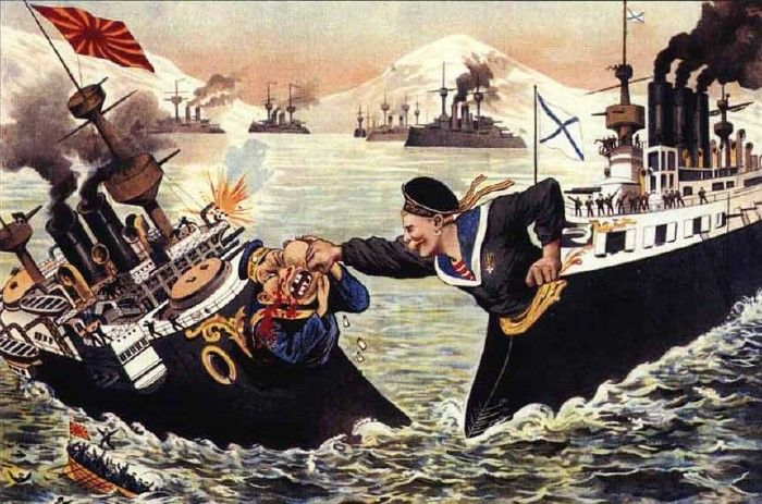 Russian Navy hits Japan Navy. - Imperial Russia 1905