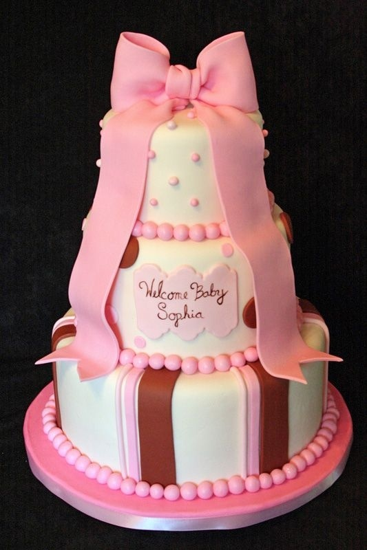 Baby Shower Cakes Perth ~ Best baby shower cakes girls images on pinterest