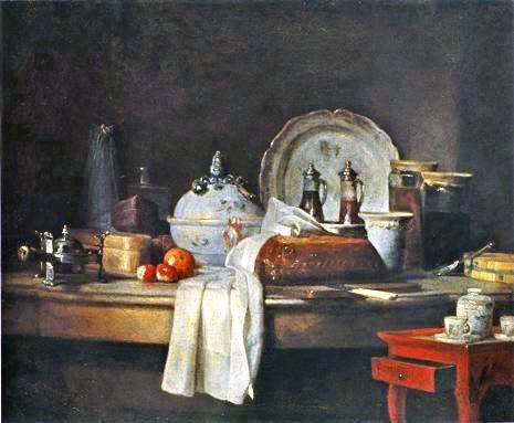 Jean-Siméon Chardin, La table d'office, 1756, Musée des Beaux-Arts, Carcassonne