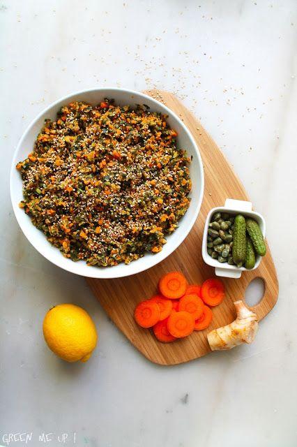 tartare wakamé algues carottes galanga