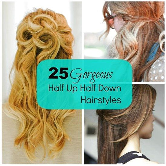 25 Gorgeous Half-Up, Half-Down Hairstyles - love the Celtic Knot, the Overlapping Half-Up Half-Down, and the Rosette. - click on the image or link for...