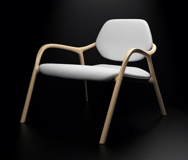 Chaise En Bois – Wooden Armchair by Simon Reynaud