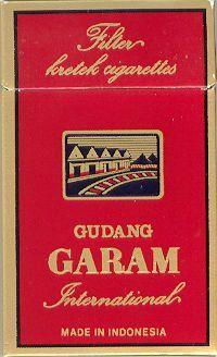 ガラム Indonesian clove-flavoured cigarettes (kretek)  : Gudang Garam International