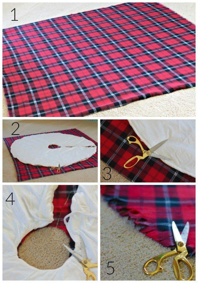 DIY No Sew Christmas Tree Skirt - Our Fifth House